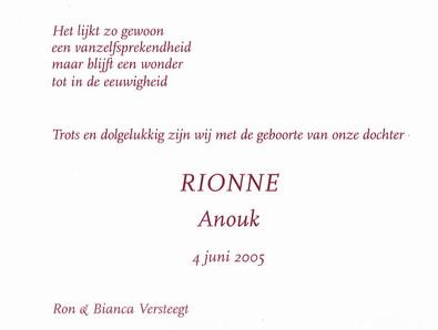 Beroemd Geboortekaartje-Rionne-2.jpg &VK91
